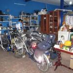Bicicleta, carrito de niño, cinta de correr, muebles